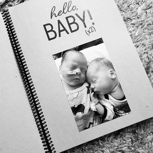 Twin Premature Baby ScrapBook