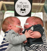 Load image into Gallery viewer, 'We've Arrived' (Twin) Premature Baby Milestone Cards