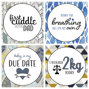 'It's a Boy' Premature Baby Milestone Cards