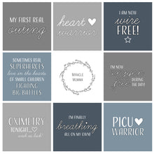 Load image into Gallery viewer, Premature Baby Premmie NICU PICU Surgical Medical Baby Milestone Cards Warrior