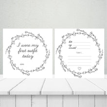 Load image into Gallery viewer, 'Elegant Wreath' Premature Baby Milestone Cards
