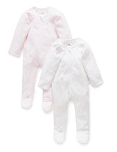Load image into Gallery viewer, Pure Baby Zip Growsuit 2 Pack Premature Baby Clothing