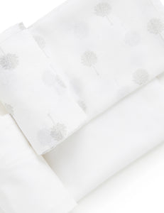 Pure Baby Muslin Wrap 2 Pack - Pale Grey Tree