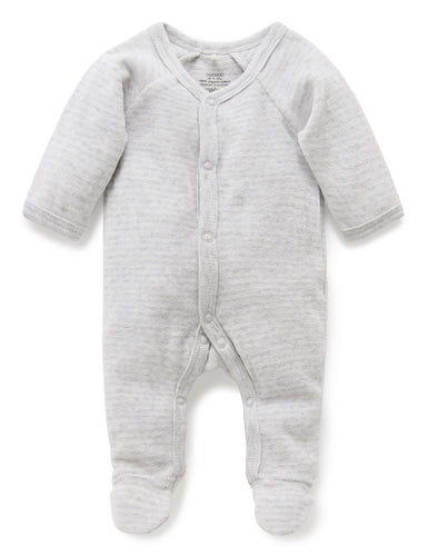 Pure Baby Premmie Velour Growsuit Premature Baby Clothing