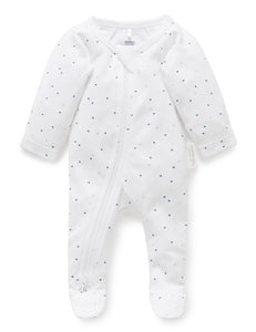Pure Baby Premmie Zip Growsuit Premature Baby Clothing