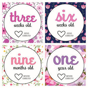 'She's Growing!' Age Premature Baby Milestone Cards