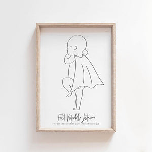 Baby Birth Print Birth Poster Baby Announcement Nursery Art