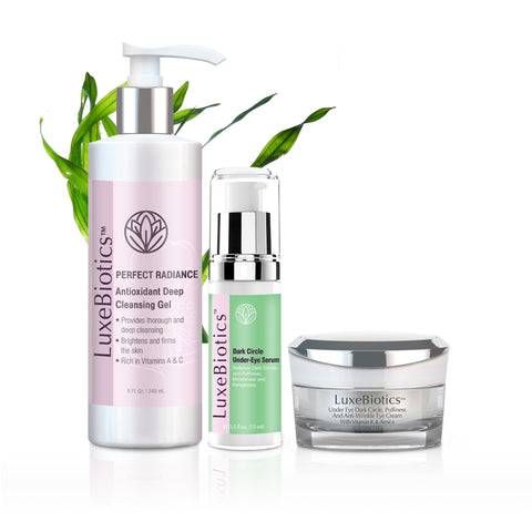 3 Step Dark Circle, Puffy Eye & Wrinkle Eliminating Kit
