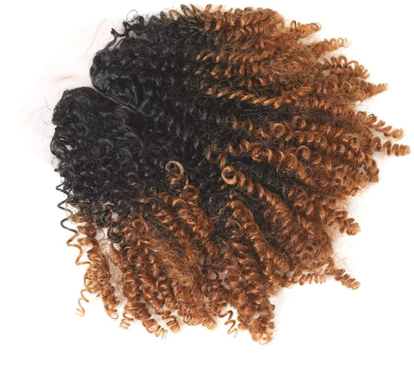 TRULY MAGIC - Ombre Curl Yaki BUNDLE with frontal