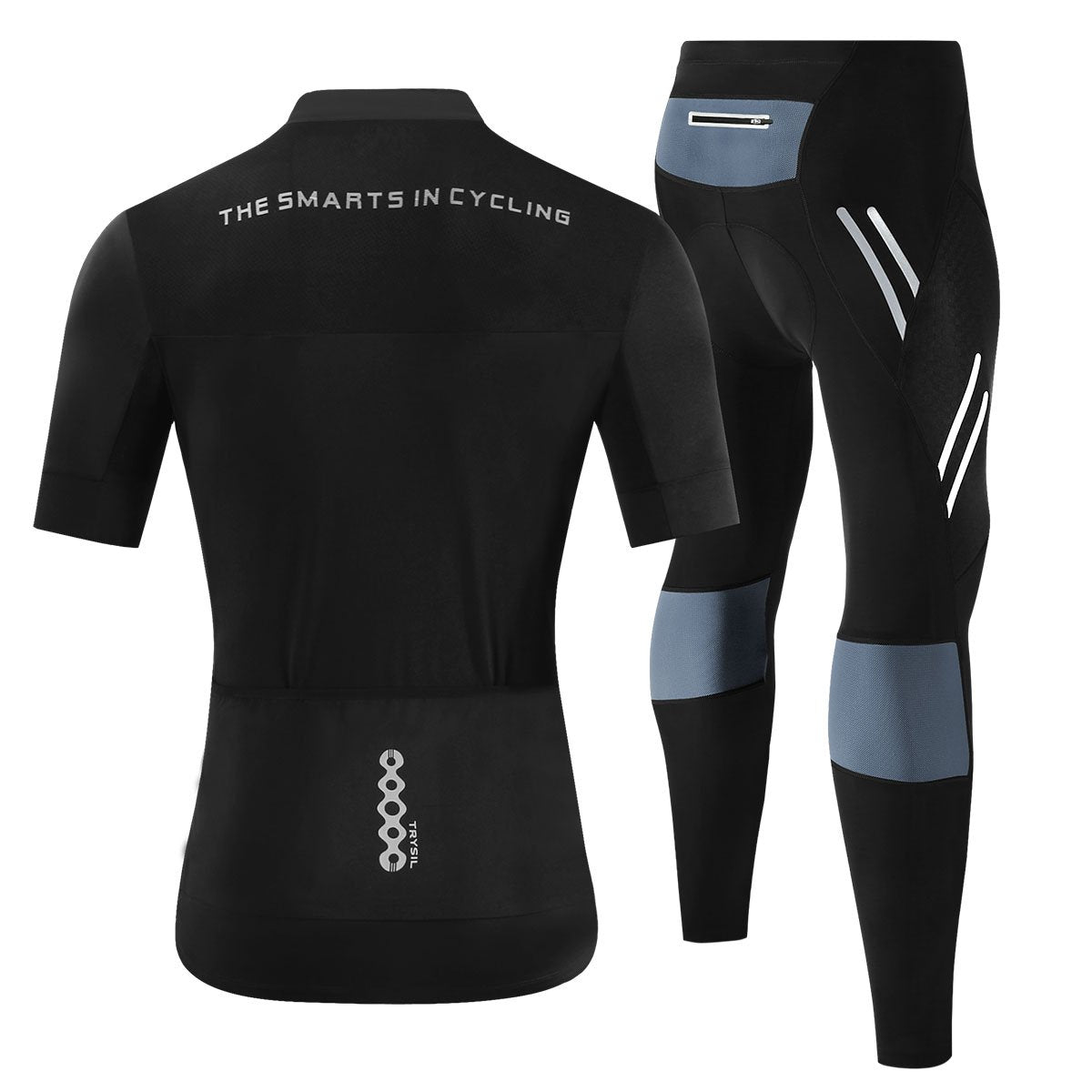 Men's High Springing Speed, Dry and Air-breathable Riding Long Two-piece Set