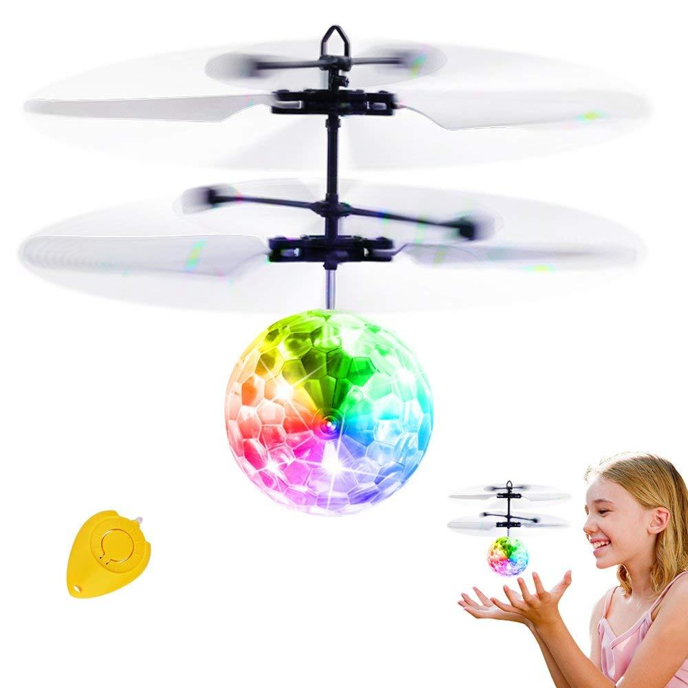 Flying Ball Toys, RC Toy for Kids Boys Girls Gifts Rechargeable Light Up Ball Drone Infrared Induction Helicopter with Remote Controller for Indoor and Outdoor Games