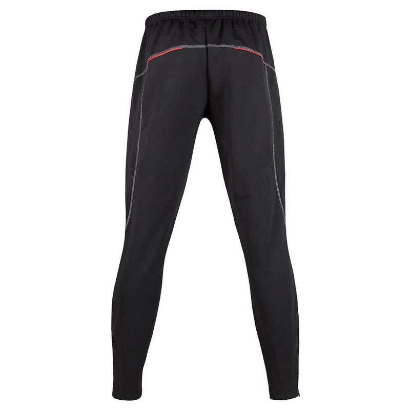 Fall and Winter Men's Warm,Cold-proof,Tight-fitting,High-elastic,Black Cycling Running Pants