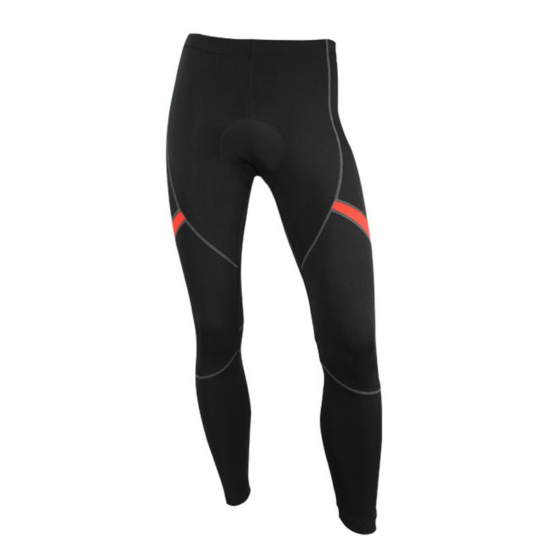 Fall and Winter Men's Warm, Cold-proof, Tight-fitting, High-elastic Black Cycling Trousers