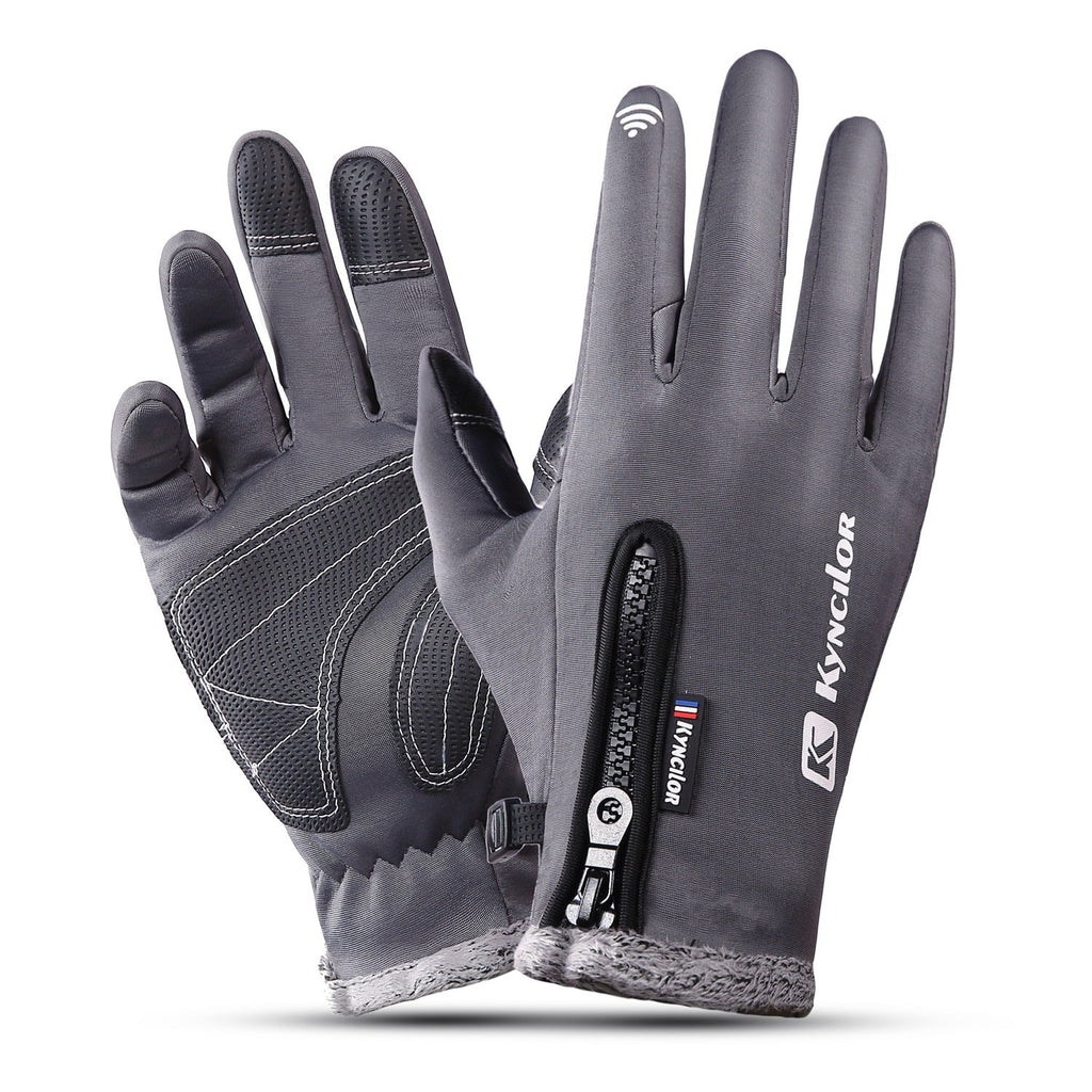 Outdoor gloves for windproof, warm and waterproof mountaineering