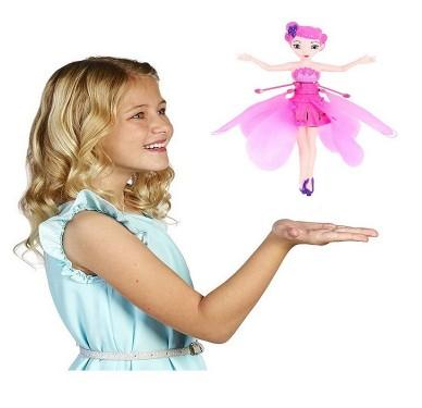 Flying Fairy Princess -Flying Angel Dolls Toy Infrared Induction Control Flying Dolls Remote Control Flying Toys For Children Girl Creative Gift drone