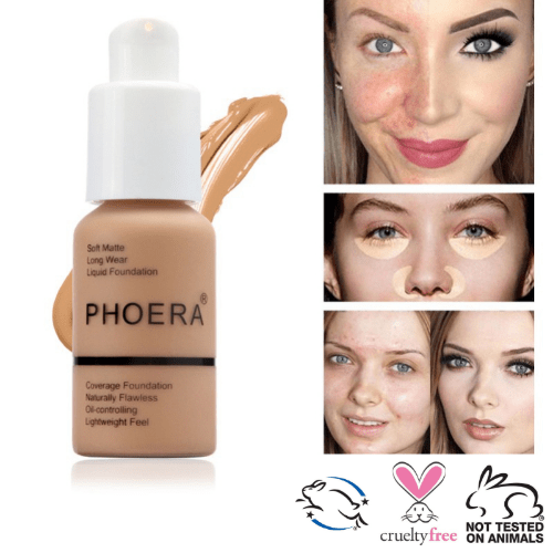PHOERA Soft Matte Liquid Foundation-Resistant to sweat and humidity