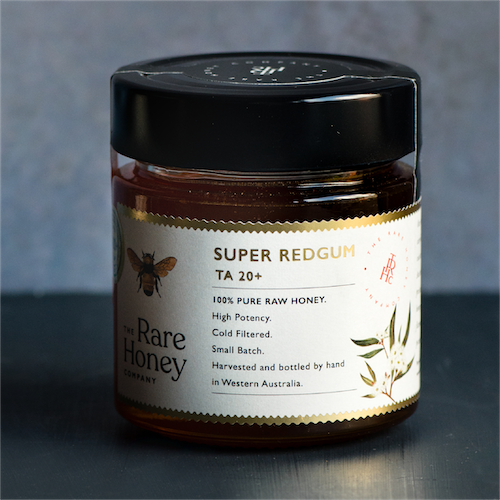 super redgum the rare honey company ta20+ bioactive honey