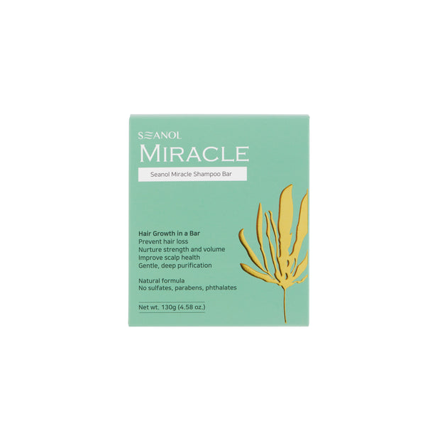 Seanol Miracle Shampoo Bar - Natural Solid Shampoo 130g