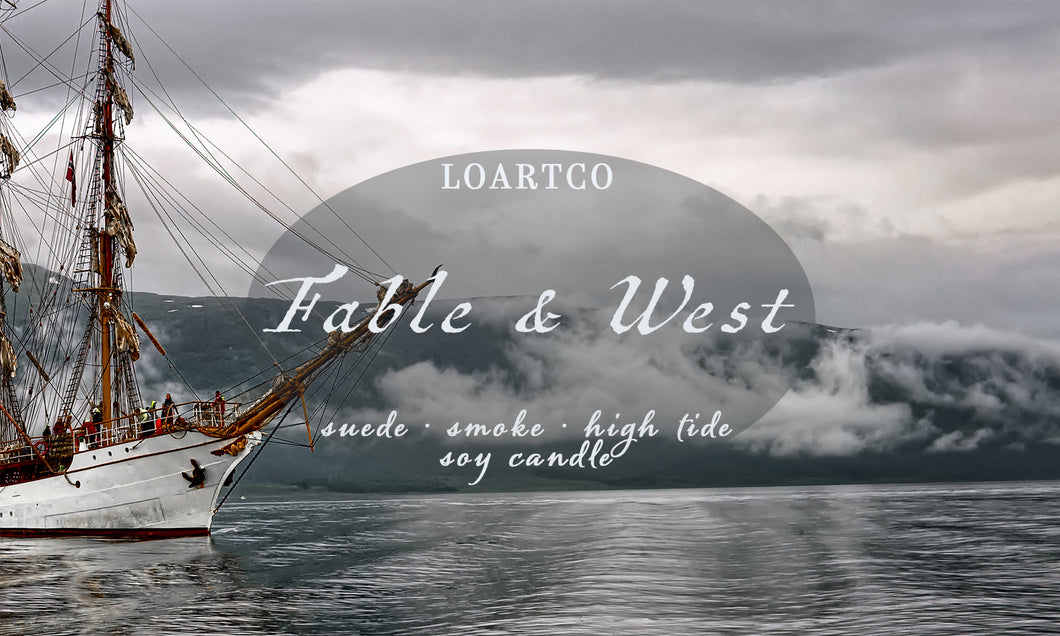 Fable and West Soy Candle