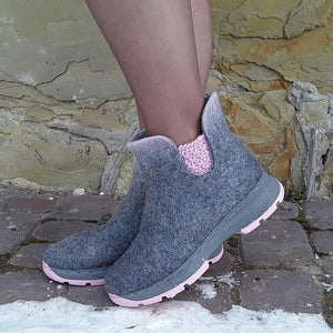 Sportliche Tweed Short Boots