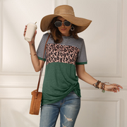 2020 Hot Sale Frauen Leopard Kurzarm T-Shirt