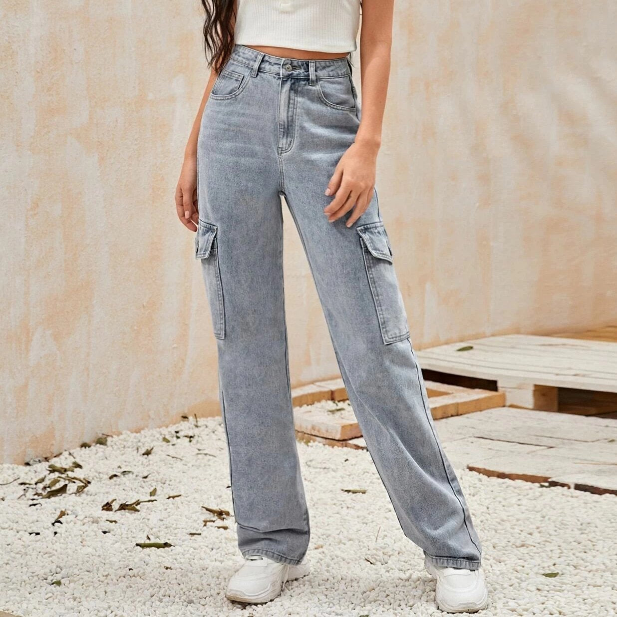 Casual Style Jeanshose