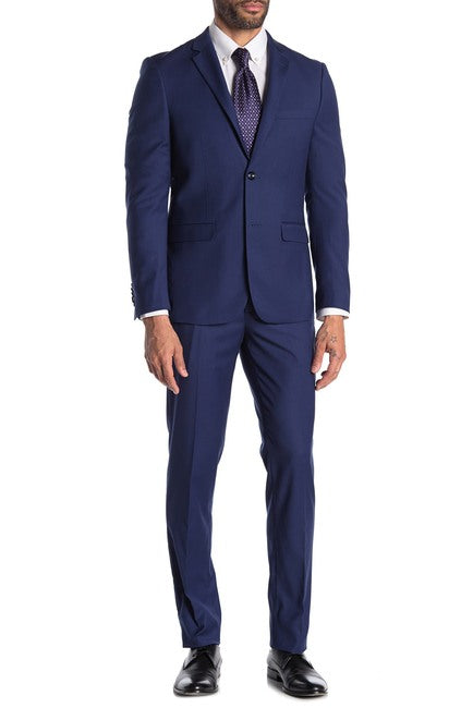 Navy Soul of London Notch Lapel Suit - Slim Fit