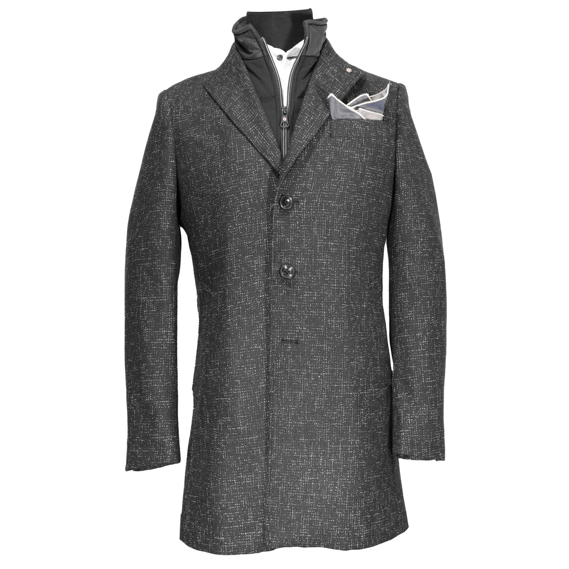 Blue Industry Midnight Speckle Overcoat