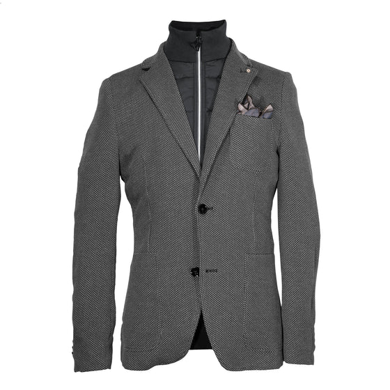 Blue Industry Knit Blazer with Removable Inlay Navy