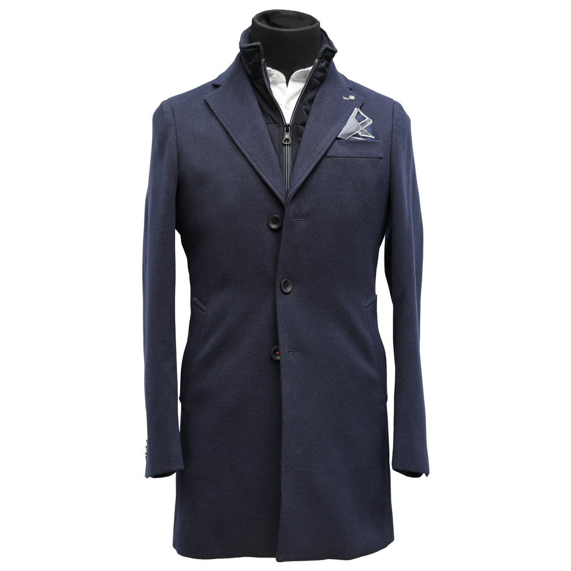 Blue Industry Navy Overcoat