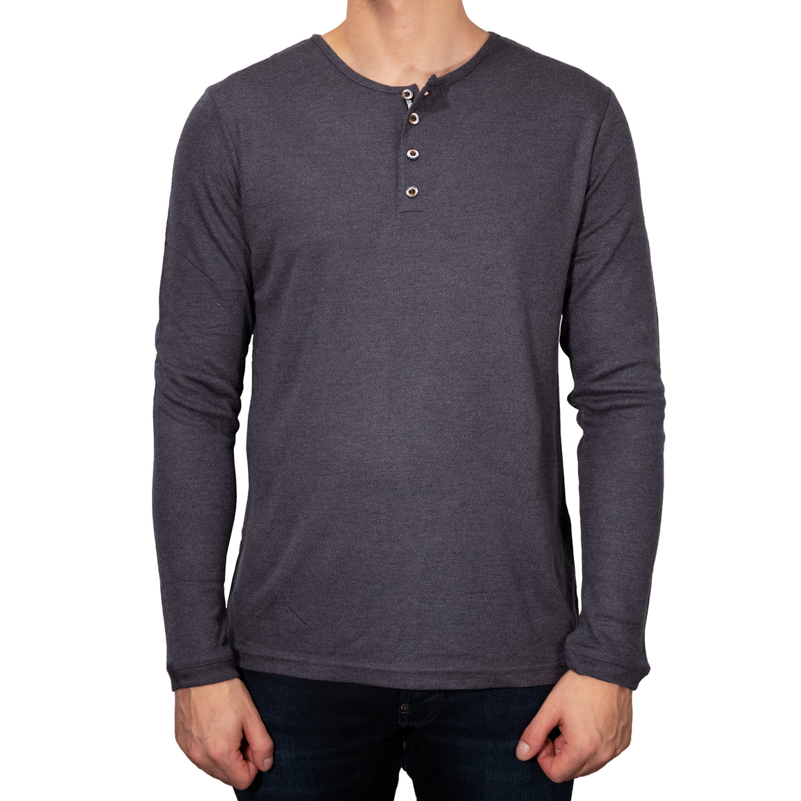Stone Rose Long sleeve Henley