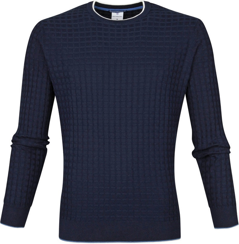 Blue Industry Crew Neck Waffle