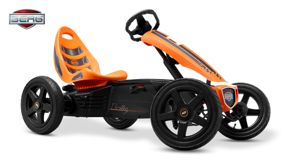 BERG Kids Pedal Go Kart | Rally Orange - Buytoys.com.au