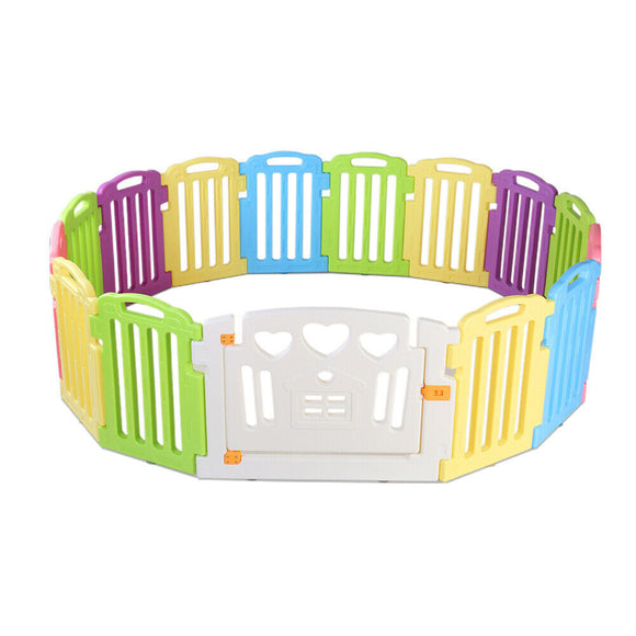 Plastic Baby Playpen | 15 Panel Gate & Fence Kit - Buytoys.com.au
