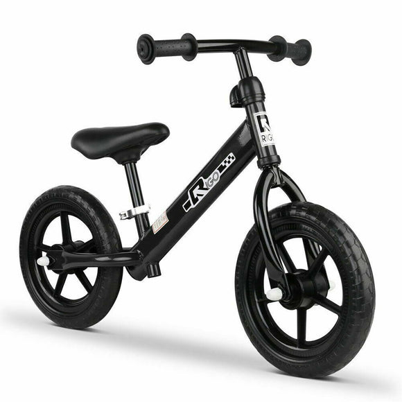 Rigo 12 Inch No Pedal Kids Balance Bike | Black - Buytoys.com.au
