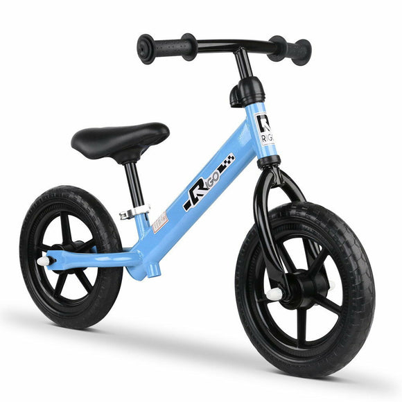 Rigo 12 Inch No Pedal Kids Balance Bike | Blue - Buytoys.com.au
