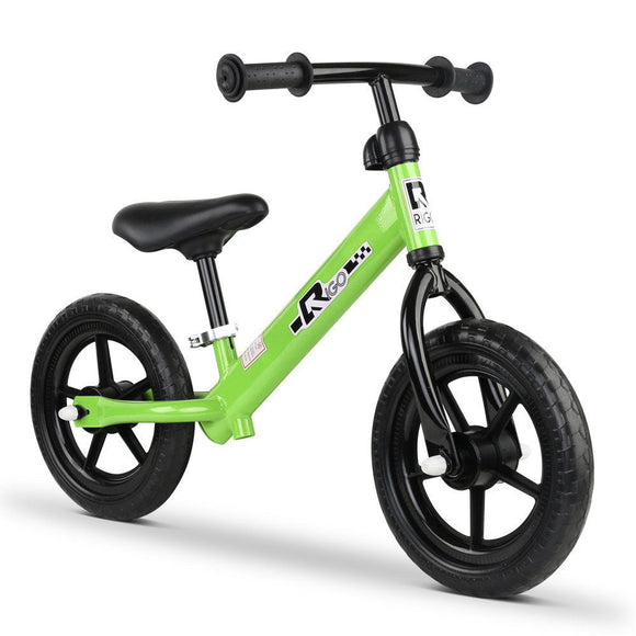 Rigo 12 Inch No Pedal Kids Balance Bike | Green - Buytoys.com.au