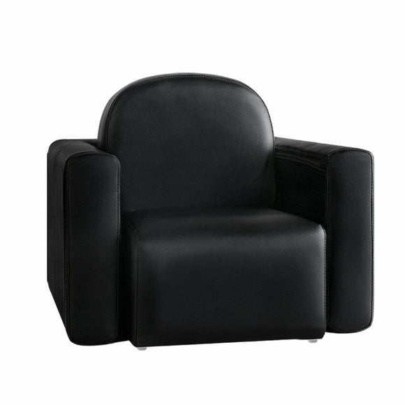 Kids Convertible Armchair / Table | PU Leather | Black - Buytoys.com.au