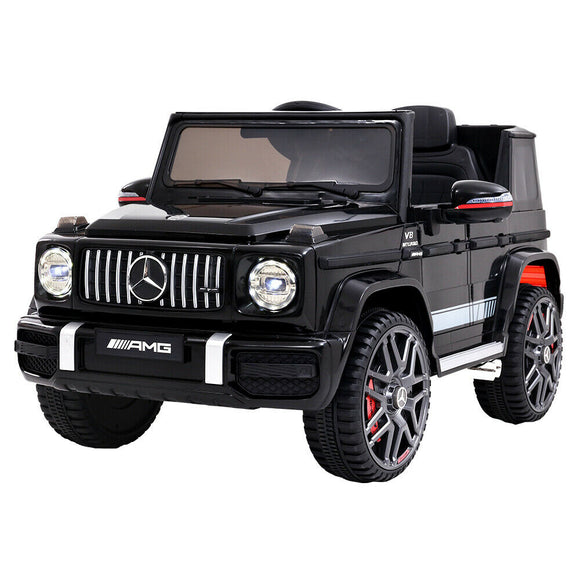 Mercedes Benz AMG G63 Licensed Kids Ride On Car | Black / Red - Buytoys.com.au