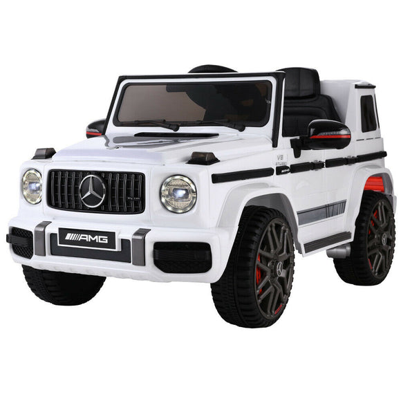 Mercedes Benz AMG G63 Licensed Kids Ride On Car | White - Buytoys.com.au