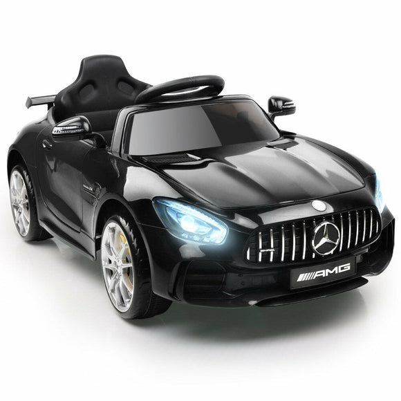 Mercedes Benz AMG GT R Licensed Kids Ride On Car | Black - Buytoys.com.au