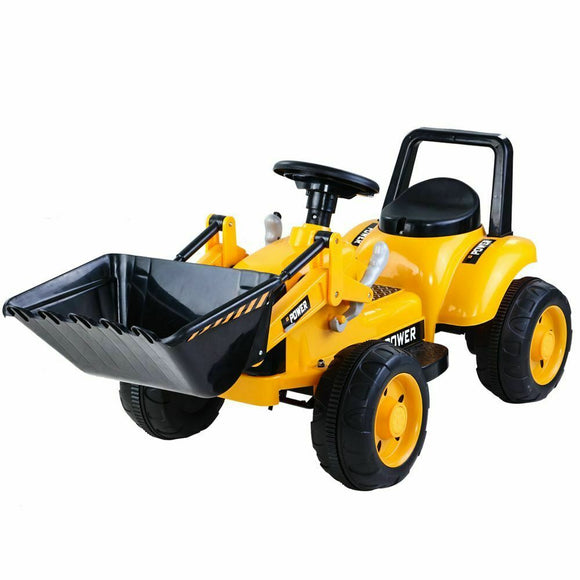 Bulldozer Kids Ride On Car | Yellow - Buytoys.com.au