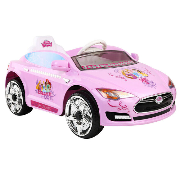 Disney Princess Kids Ride On Car | Pink - Buytoys.com.au
