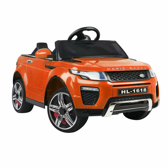 Rigo Range Rover Evoque Inspired Kids Ride On Car | Orange - Buytoys.com.au