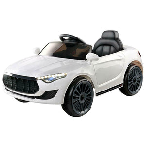 Rigo Maserati Inspired Kids Ride On Car | White - Buytoys.com.au