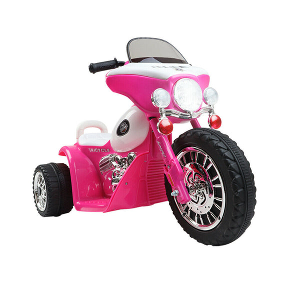 Rigo Harley Inspired Kids Ride On Motorcycle | Pink - Buytoys.com.au