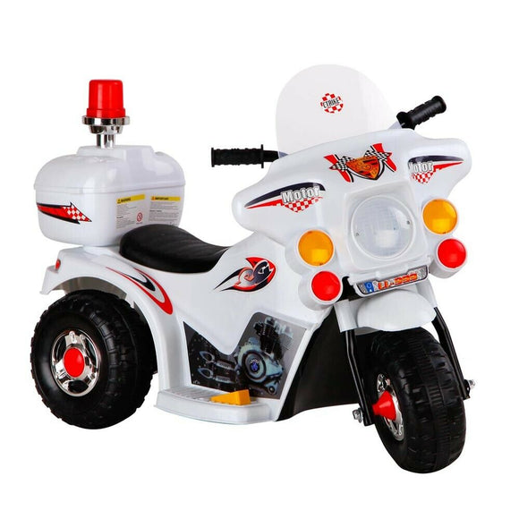 Rigo Kids Ride On Motorcyle | White - Buytoys.com.au