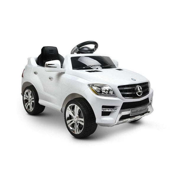Mercedes Benz ML350 Licensed Kids Ride On Car | White - Buytoys.com.au