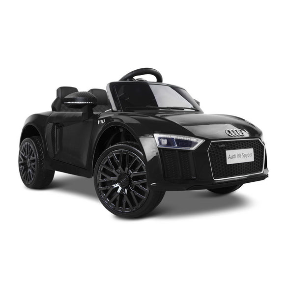 Audi R8 Licensed Kids Ride On Car | Black - Buytoys.com.au