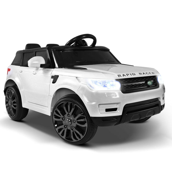 Rigo Range Rover Inspired Kids Ride On Car | White - Buytoys.com.au